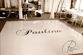 custom high gloss white floor with brown design