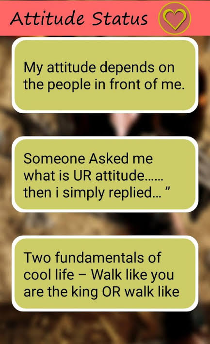 attitude style status messages in urdu