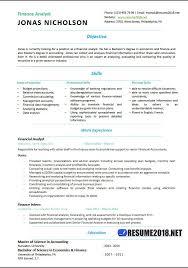 Finance Analyst Resume Templates 2018 Resume 2018