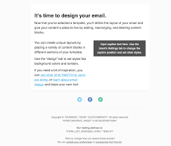 Email Address Templates Adapting Mailchimps Two Column Template Email