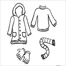 winter coat coloring page clothes costume pages renaissance clothing colouring