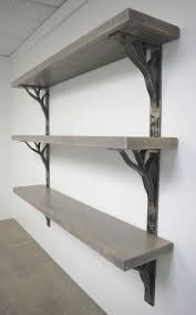 Support as a blank wall shelf brackets for cool metal or a natural blacken  finish with offset concealed brackets these iron shelf bracket cool in the  shelfs ...