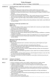 Principal Software Architect Resume Samples Velvet Jobs