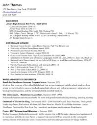 Example Of College Resume For High School Senior Resume Template