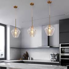 glass pendant light kitchen modern