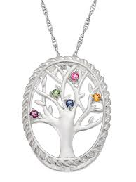 personalized planet jewelry family jewelry personalized mother s sterling silver or 14k gold over silver birthstone tree necklace 20 com