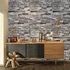 ConCus-T Grey Brick Wallpaper Self ...