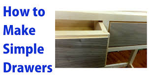 How To Make Drawers How To Make Simple Wooden Drawers Woodworkweb Youtube