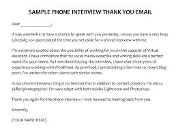 Thanks Letter After Phone Interview Phone Interview Thank You Email For Your Sample To Hiring Manager