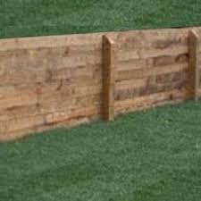 pressure treated lumber makes a nice retaining wall