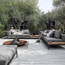 unusual outdoor furniture. customise your own unique outdoor space by combining with coordinating gloster lounge furniture to complete the unusual