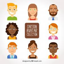 funny cartoon avatars free vector