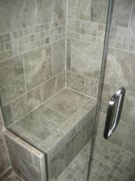 Tile Showers With Seats Large Mosaic Tiled Walk In Shower Space Intended  For Seat Design 18
