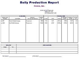 Production Reporting Templates Excel Production Report Template