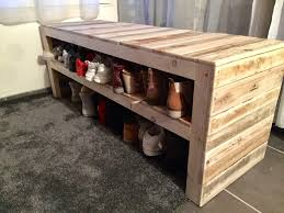 Furniture:This Pallet Bench Has Two Shoe Storage Shelves Also With Furniture  22 Best Picture