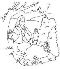 Kleurplaten Nt Jezus Bidt In Getsemaneh Kleurplatendatabase