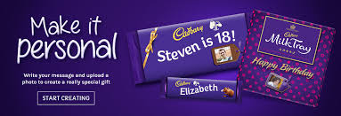cadbury personalised chocolate create something unique cadbury