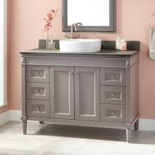small bathroom vanity with drawers. Image Of: Small Gray Bathroom Vanity Cabinet Vessel Sink With Drawers