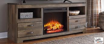 trinell 63 tv stand with electric fireplace insert