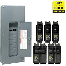 shop circuit breakers load centers fuses at lowes com square d 60 circuit 30 space 200 amp main breaker load center