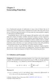Generating Functions Springer