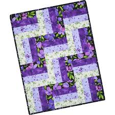 Catalina Ultra Violet~Pre-Cut Rail Fence Quilt Kit 24  x 32  by ... & Catalina Ultra Violet~Pre-Cut Rail Fence Quilt Kit 24