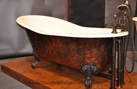 60 cast iron double ended rectangle tub w bear paw feet