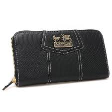 Coach Accordion Zip In Croc Embossed Large Black Wallets CCQ  Coach0A2643   - Coach Accordion Zip In Croc Embossed Large Black Wallets CCQ Product  Details ...