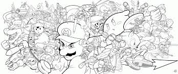 Small Picture Super Smash Brothers Coloring Pages Free Printable Coloring Home