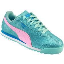 puma shoes for girls. puma roma glitz glamm running shoes - girls aruba blue prism pink for d