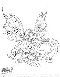 Winx Kleurplaat Bloom Bloomix Bloom Enchantix Coloring Page Free
