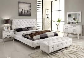 Mirrored Night Stands Bedroom Bedroom Queen Size White Modern Leather Captanins Bed White