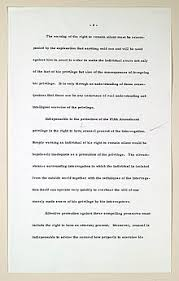 m da warning  page of the manuscript written by chief justice earl warren regarding the m da v arizona decision this page established the basic requirements of the
