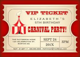 Carnival Birthday Invitations Carnival Birthday Invitations Announcements Zazzle Ca
