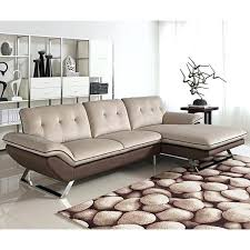 pewter fabric sectional sofa lidia 2 pc with storage chaise