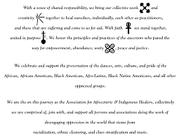 aaih purpose statement association for afrocentric indigenous  picture