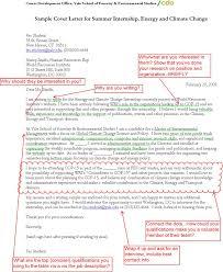 sample cover letter for summer internship energy and climate change sample cover letters for internship