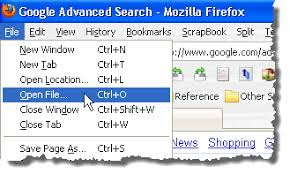 Open an HTML File in Google Chrome