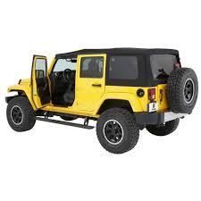 bestop automatic running board powerboard nx pair 4 door jeep wrangler jk 2007 2018