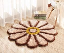 maxyoyo round rug circle rugs sunflower fl rug daisy bedroom decor camel carpet rug fluffy rug for living room bedroom gy room rug thicken room