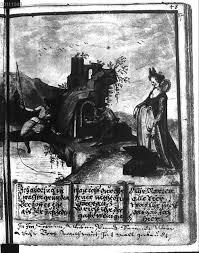 Ganzseitige Miniatur , da: Pusch, Adam [Sonstige]: Pusch, Adam  [Sonstige]:Stammbuch des Adam Pusch, Breslau - BSB Cgm 8349 ( 1598-1606) -  Libro digitalizzato dal materiale copyright-free nella Biblioteca di Stato  Bavarese di