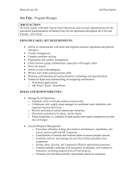 manager resume cover letter sample