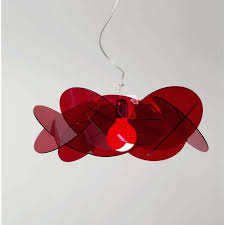 bea modern red ceiling pendant light for high ceilings