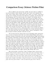 comparison essay english docx gopighantan mylvaganam submission date 4th 2015 2 comparison essay science fiction
