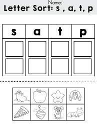 Free Letters Sorting Cut And Paste Activity Review Initial Sounds ...