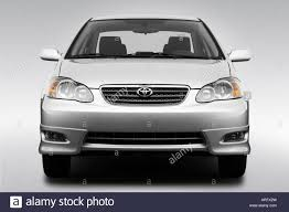 2008 Toyota Corolla S in Silver - Low/Wide Front Stock Photo ...