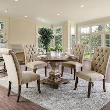 furniture of america cm3840a rt 3564 5 pc nerissa antique oak finish wood 48