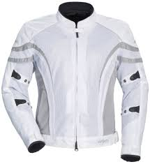 silver cortech womens lrx air 2 mesh jacket white silver
