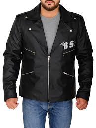 fashionable black leather jacket men s black leather jacket