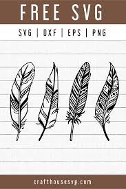 Almost files can be used for commercial. Free Feather Svg Fb101 Craft House Svg